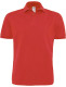 B&C Heavymill Polo Heren - Rood