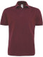 B&C Heavymill Polo Heren - Bordeaux