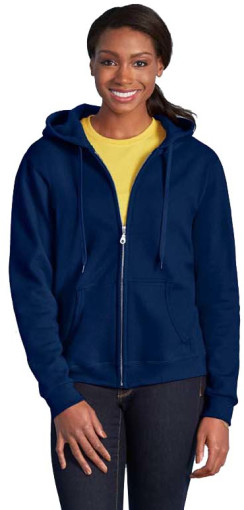 Relatiegeschenk Gildan Full Zip Hooded Vest Dames