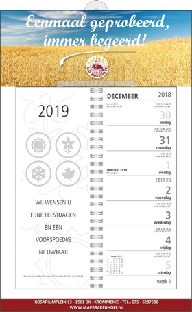 Relatiegeschenk Omlegweekkalender Full colour Basic