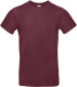 B&C 190 T-shirt Heren - Bordeaux