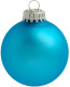 Kerstbal [6 cm] - Turquoise